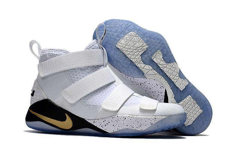 Cheap Nike Lebron Soldier James 11 White Gold Black - www.maxs2017.com