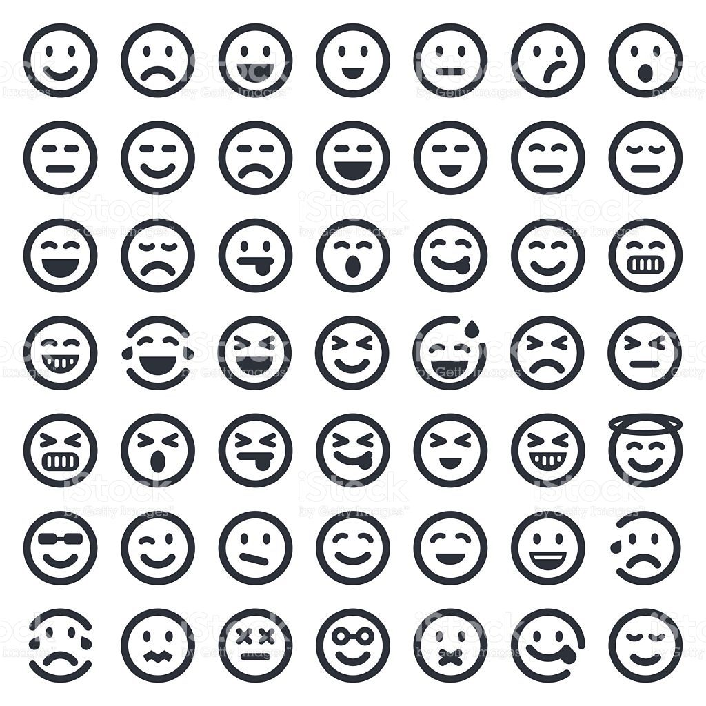Image result for emoji chart black and white Emoji chart