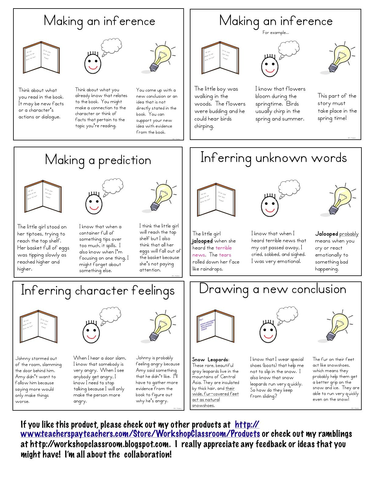 Worksheets 3rd Grade Inferencing Worksheets workshop classroom making inferences mini lessons reading lessons