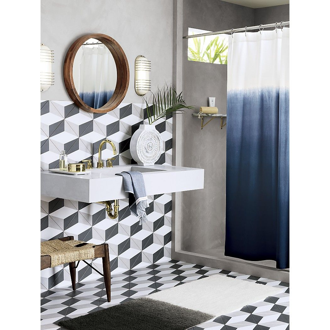 Acacia Wood 24 Wall Mirror Reviews Ombre Shower Curtain