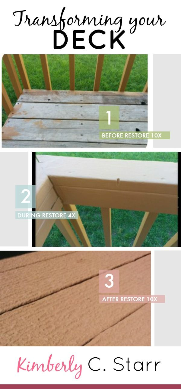 How To Transform Your Old Deck Into A New One... (With