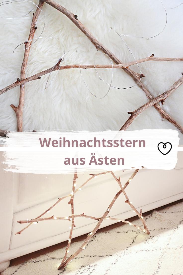 Stern Aus ästen : weihnachtsstern aus sten weihnachtsstern wohnklamotte und selber basteln ~ Yuntae.com Dekorationen Ideen