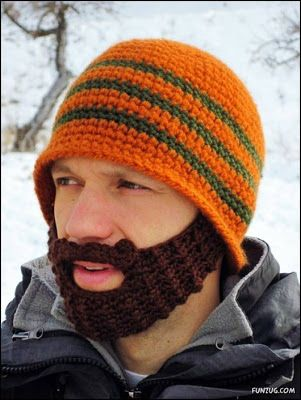 859b8032e60 Craziest Beard Head Knit Caps ~ CRAZY PICS !
