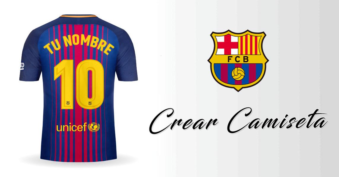 Personalizar camiseta de FC Barcelona 2017 2018 con tu Nombre y Numero.  Compartela en Facebook 4349aa81afe