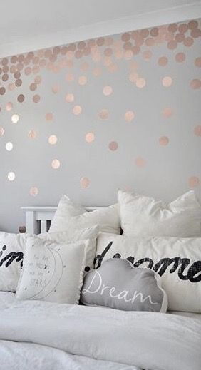 Pinterest Itsjustbxth Bedroom Girls Bedroom Wallpaper Rose Gold Bedroom Feature Wall Bedroom