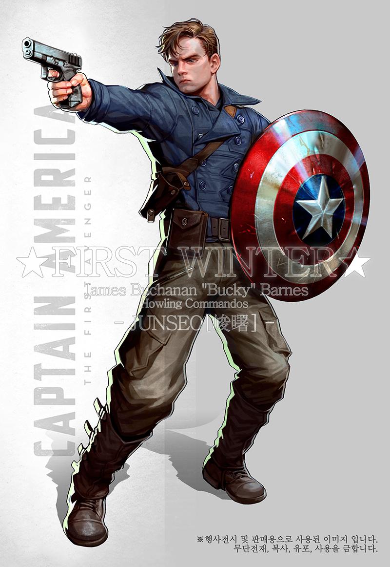 Junseo(峻曙) on Bucky barnes captain america, Bucky barnes