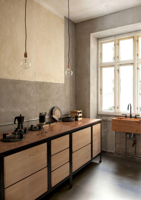 Cocina de la vivienda - Estilo dirty chic, una casa al desnudo ...