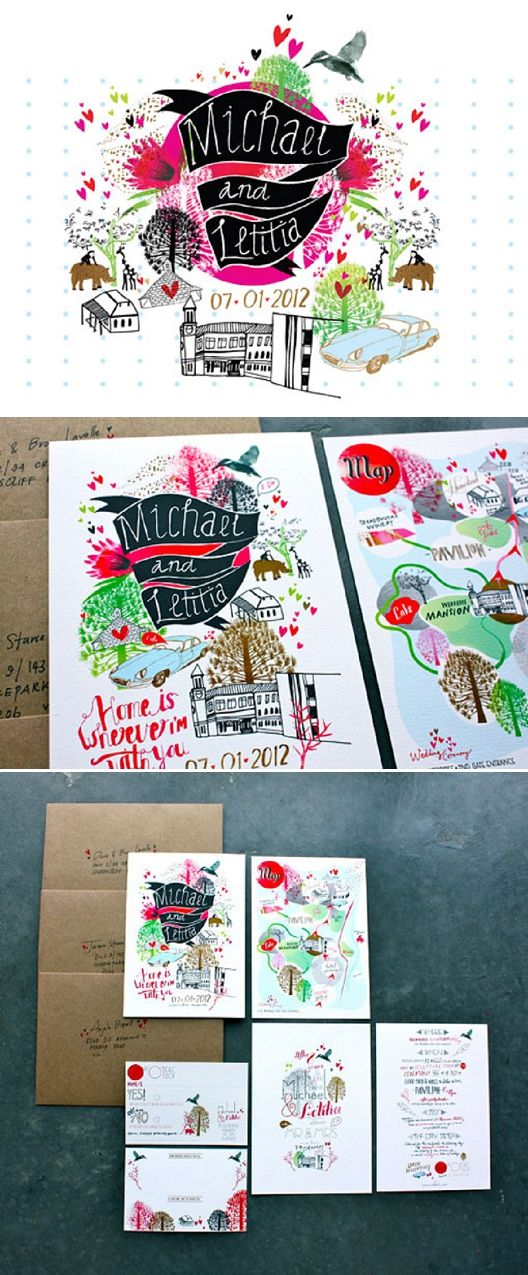 Beautiful Wedding Invites designed by the Bride herself ...