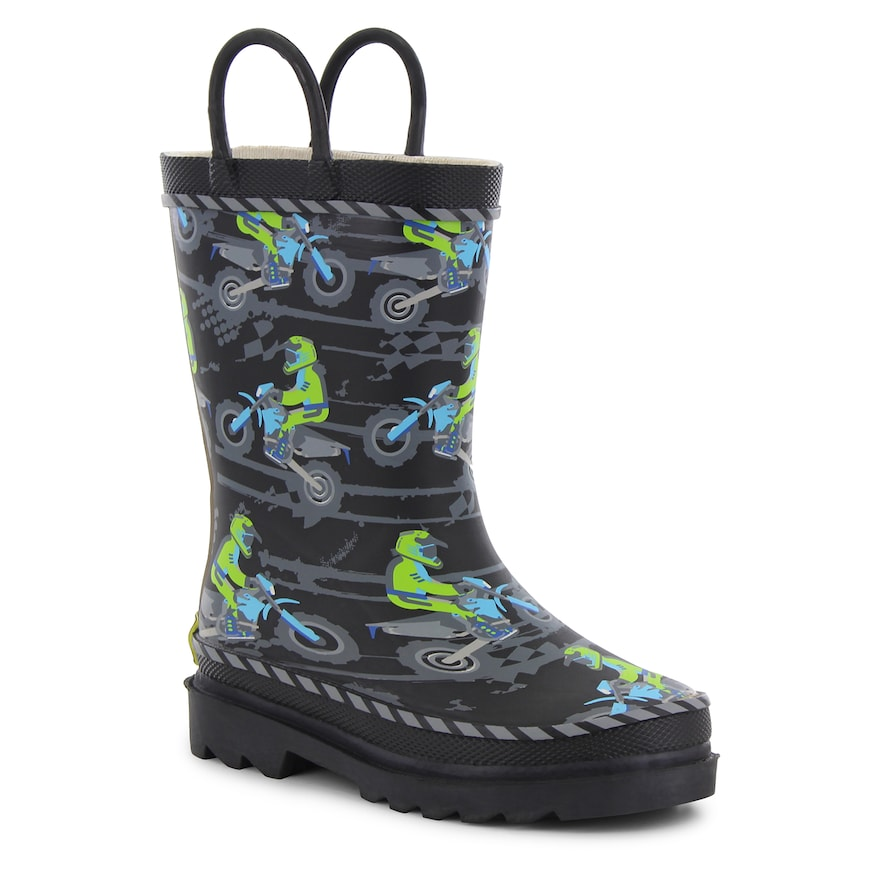Western Chief Motocross Toddler Boys Waterproof Rain Boots Boy S Size 12 Black Products In 2019 Boots Rain Boots Boys Shoes