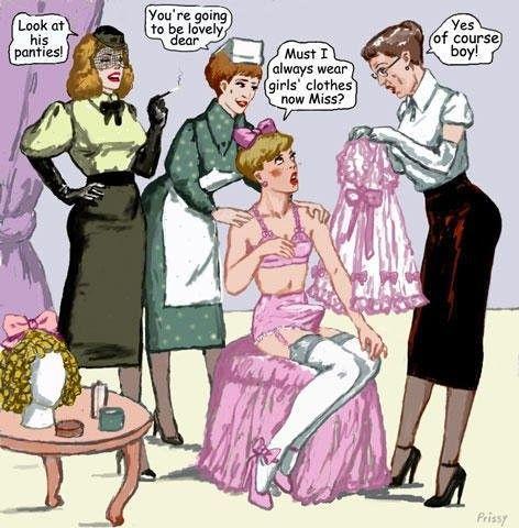 Prissy's Sissies | Sissy cartoons