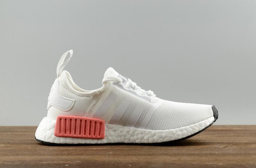 43b3fe05daa55 Adidas Original NMD R1 W BY9952 White Pink Real Boost Lady Sneakers Free  DHL Shipping for Online Sale 04