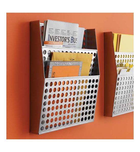 Metal Wall File Organizer In Wall Mount File Racks....check Amazon;