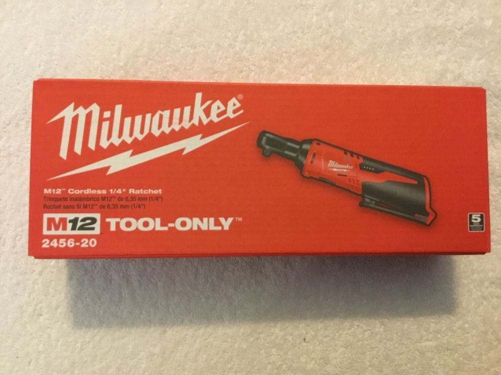 "Milwaukee 2457-20 M12 12 Volt 3//8/""Cordless Drive Ratchet Tool only NEW NIB"