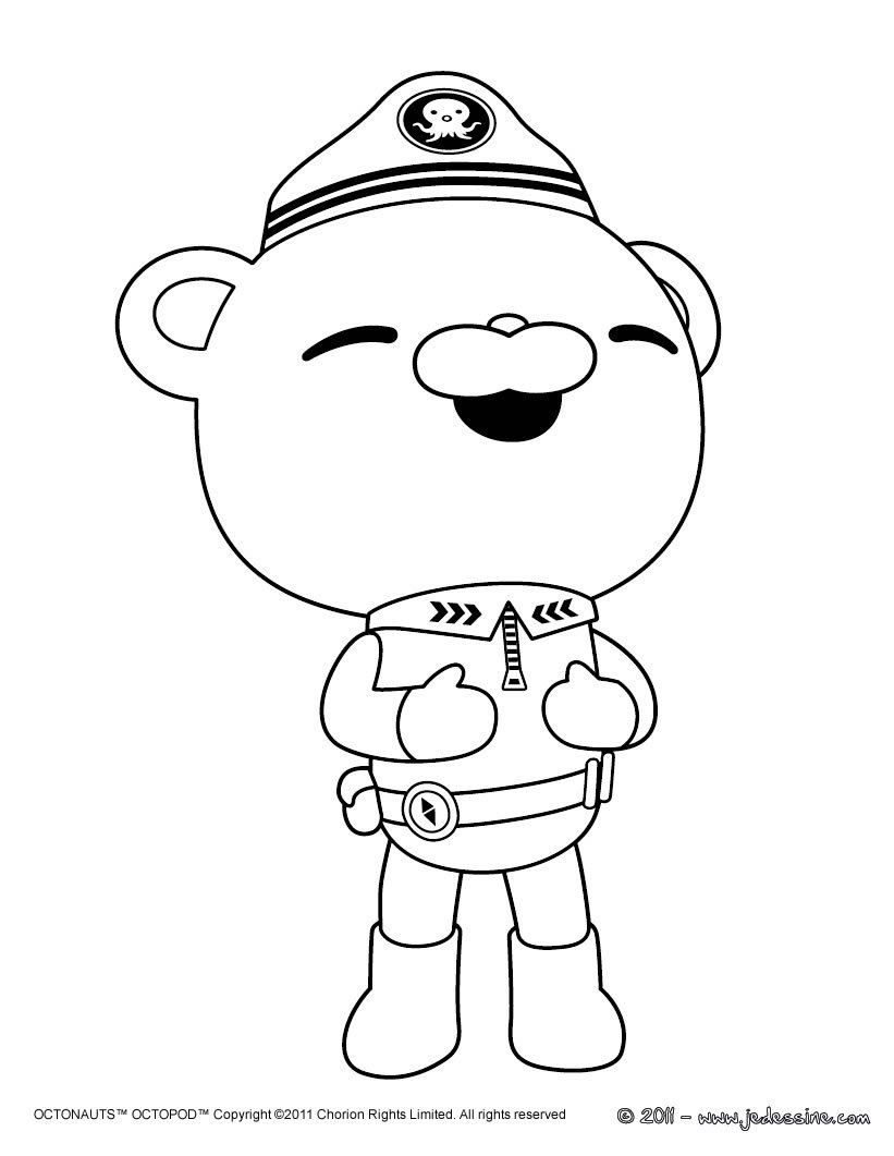 Coloriage Capitaine BARNACLES BEAR | jayden's birthday ...