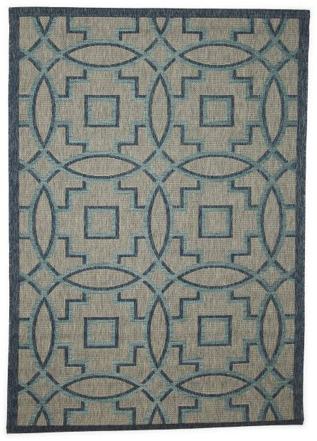 Made In Turkey 5x7 Indoor Outdoor Medallion Area Rug Indoor