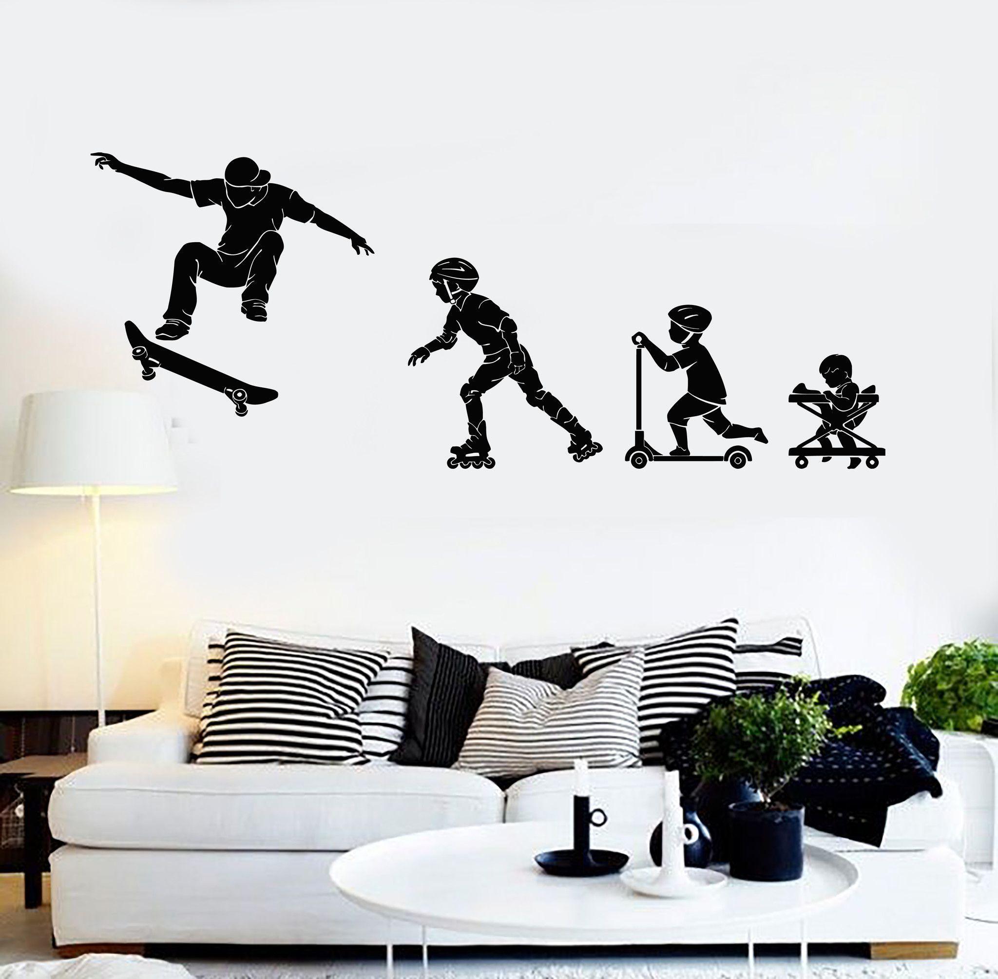 Big Wall Art Decor Skateboarding Boys Wall Transfer Boys Wall Sticker ne37