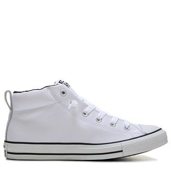 de13cab71762 Converse Men s Chuck Taylor All Star Street Mid Top Leather Sneakers (White Black  Leather)