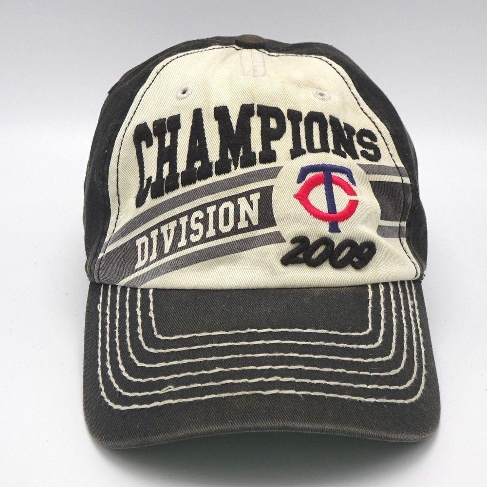 ad4ff4428dd12 Minnesota Twins 2009 Division champions cap hat Strapback Unstructured   Nineteen47  BaseballCap