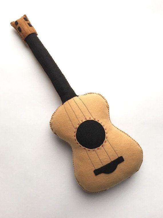 Plush Guitar Stuffed Guitar Baby Guitar Toy Guitar Felt Toys