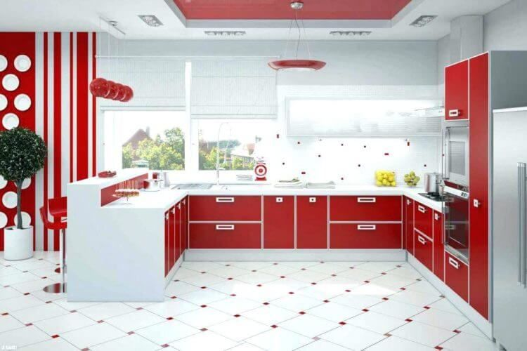 8 Hilarious Red Color Designs To Revolutionize Your Simple Kitchen Red Kitchen Decor Kitchen Decor Themes Red Kitchen