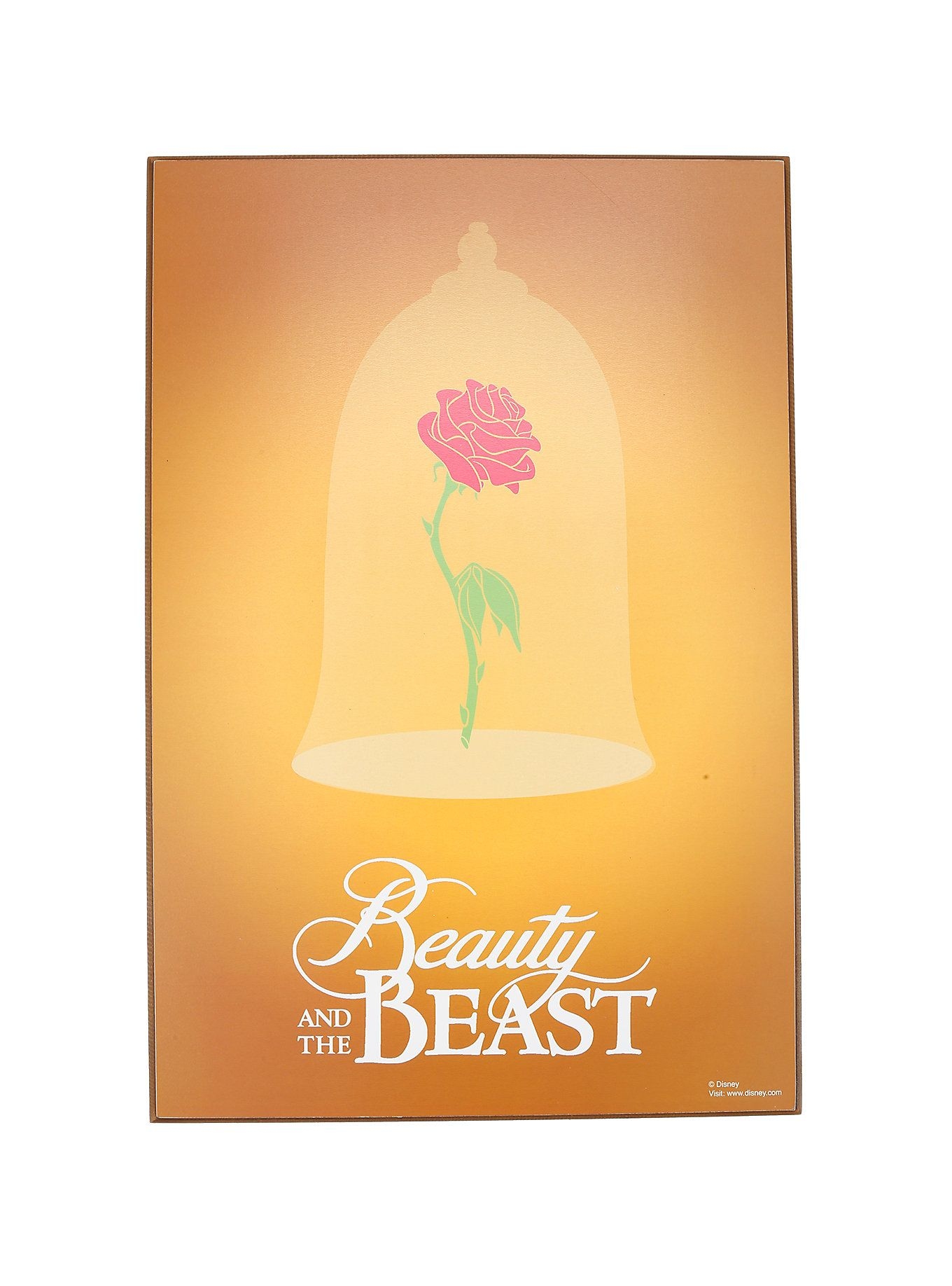 Disney Beauty And The Beast Enchanted Rose Wood Wall Art | Wood wall ...