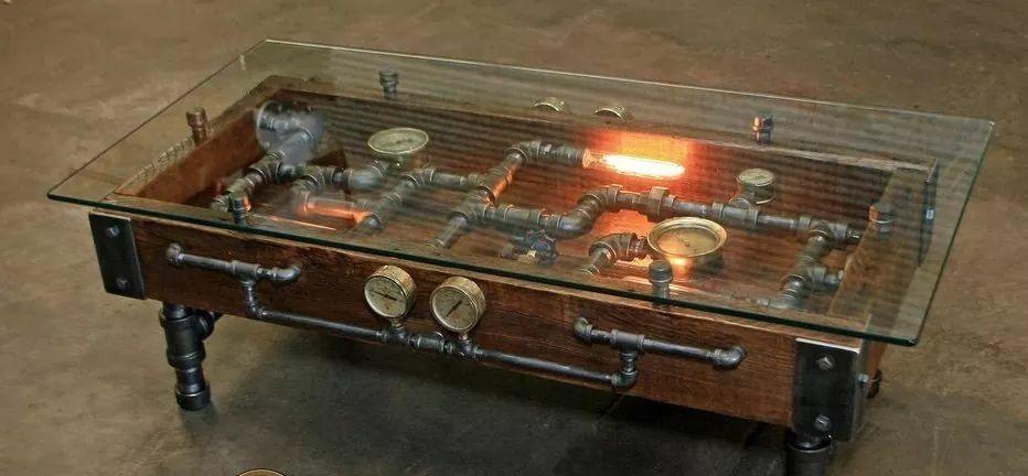 Steampunk Coffee Table Industrial Design Furniture Steampunk