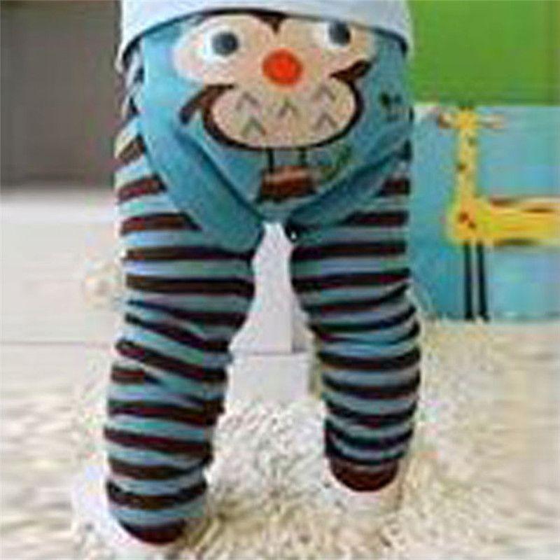 Cool UNIKIDS Fashion Loose Soft Baby Long Pants 6 Colors Lovely Baby Elastic Waist Pants Newborn Cartoon Striped Leggings Long Pants - $ - Buy it Now!