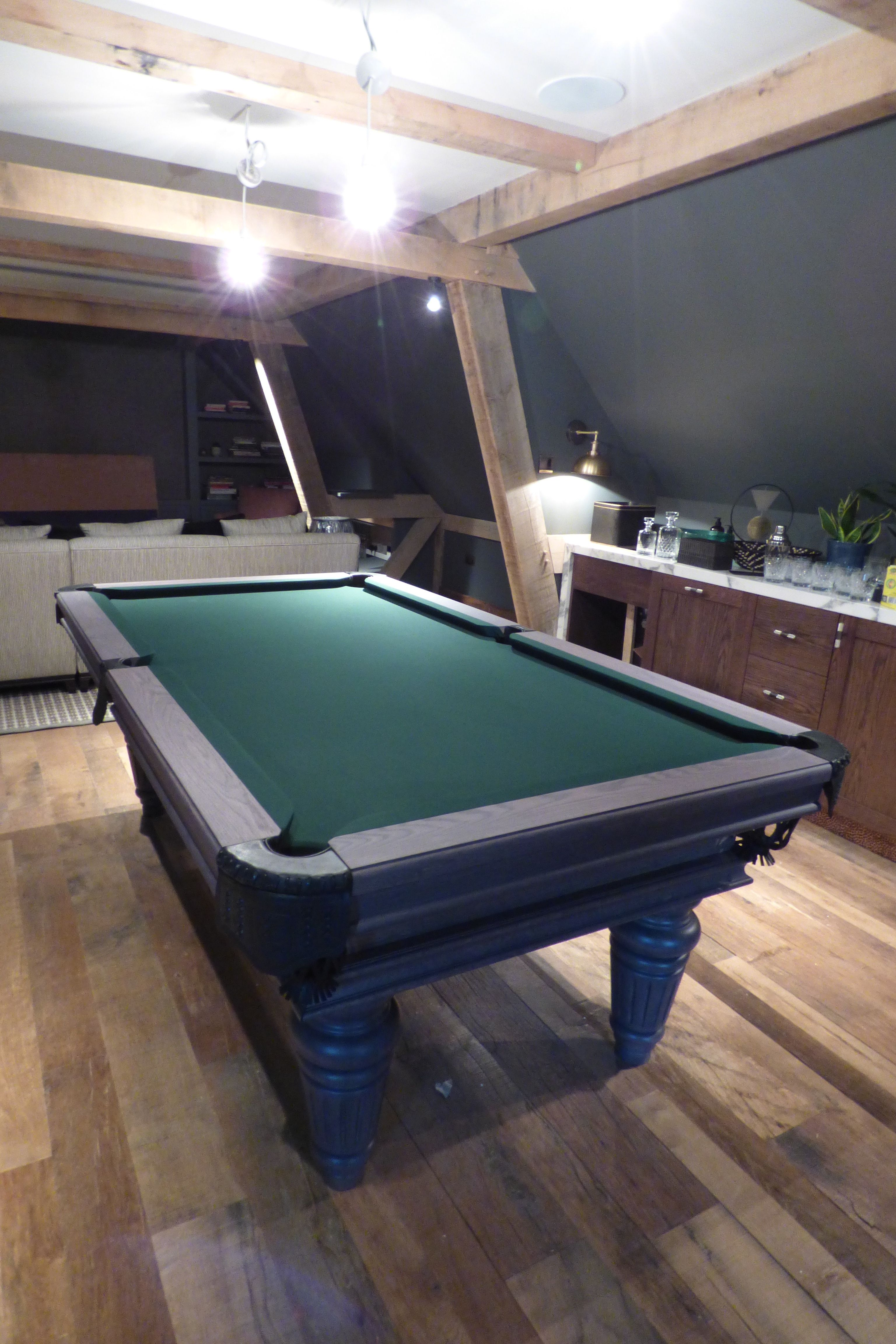 Traditional Pool or Snooker Table in 2020 Pool table