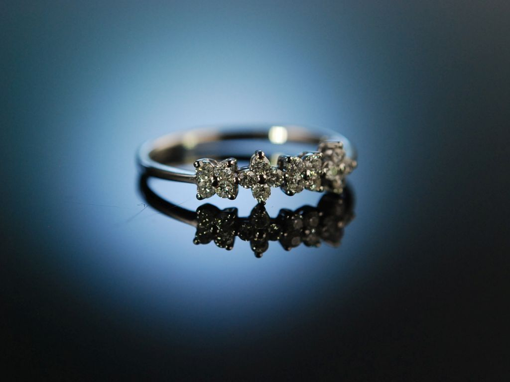 my girl lovely diamnond flowers engagement ring. Black Bedroom Furniture Sets. Home Design Ideas