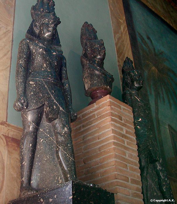<b>Anonyme</b> : <b>Horus</b> : <b>Zeus</b> : Statues du dieu Horus - Zeus Casios de Pelusium