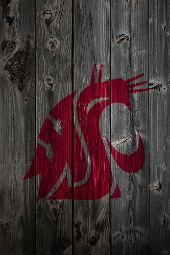 Washington State Cougars Wood iPhone 4 Background | Washingt… | Flickr