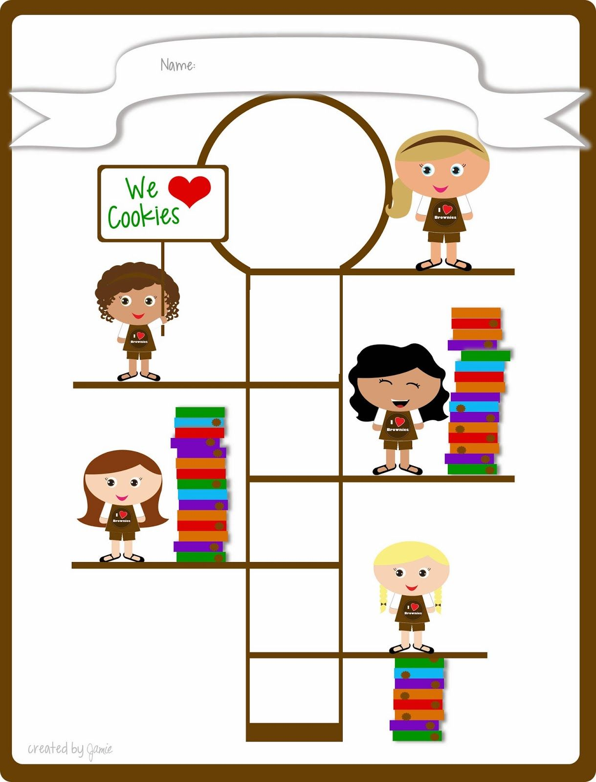Girl Scout Cookie Sales - Free Printable Goal Poster! | Im a Cookie ...