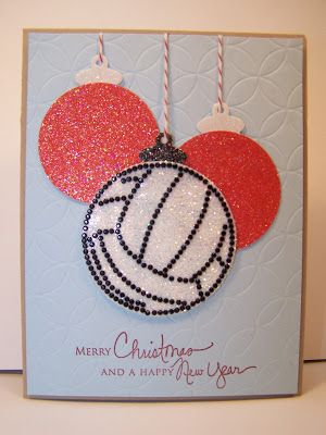 Merry Christmas Happy New Year Volleyball Christmas Christmas Card Images Volleyball Ornaments