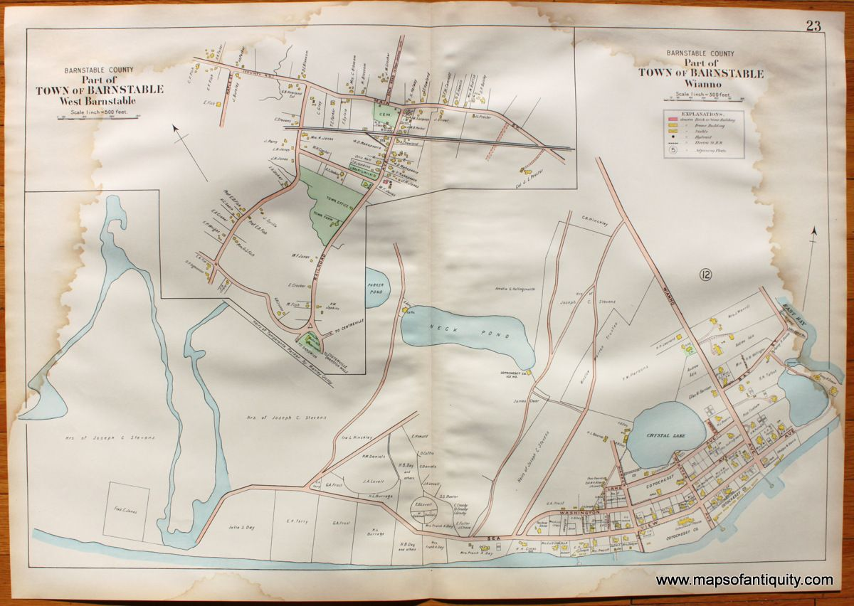West Barnstable, Wianno (MA) - Antique Maps and Charts