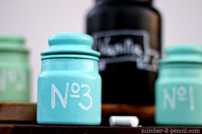 Chalkboard Paint Jar Candles