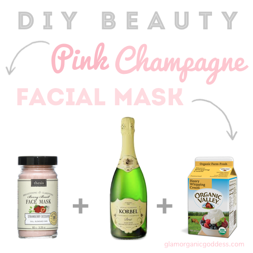 Diy beauty organic pink champagne facial mask the glamorganic diy beauty organic pink champagne facial mask the glamorganic goddess solutioingenieria Images