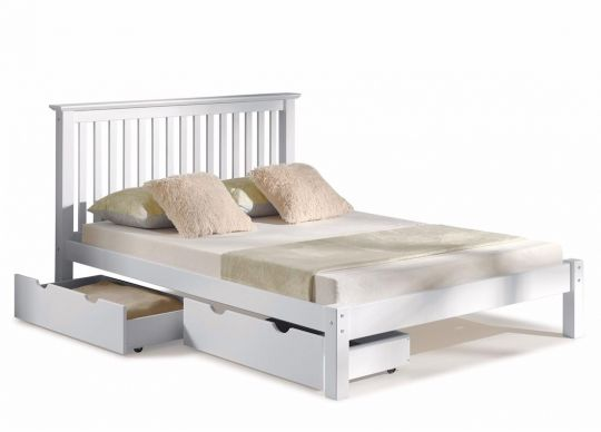 The Barcelona Queen Bed w/ Storage Drawers comes complete with