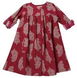 meg magenta paisley dress