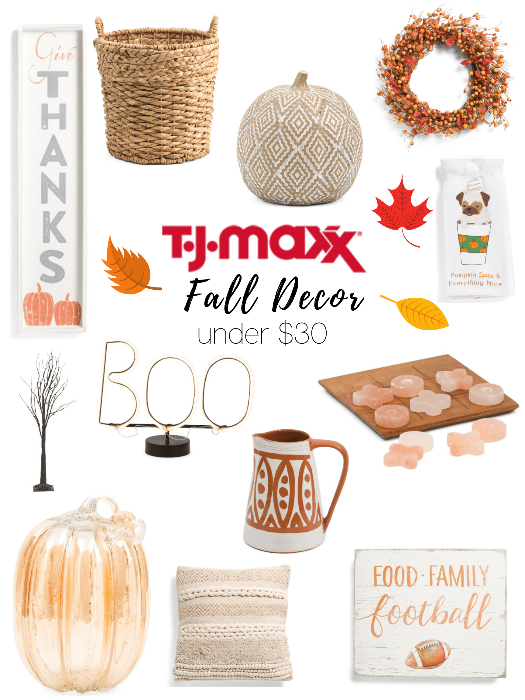 T J Maxx Fall Home Decor Under 30 The Life Of A Womann Fall Home Decor Autumn Home Fall Decor