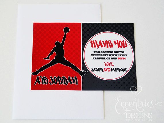 Air Jordan Jumpman Thank You Note 725 Thank You Note Card – Michael Jordan Birthday Card