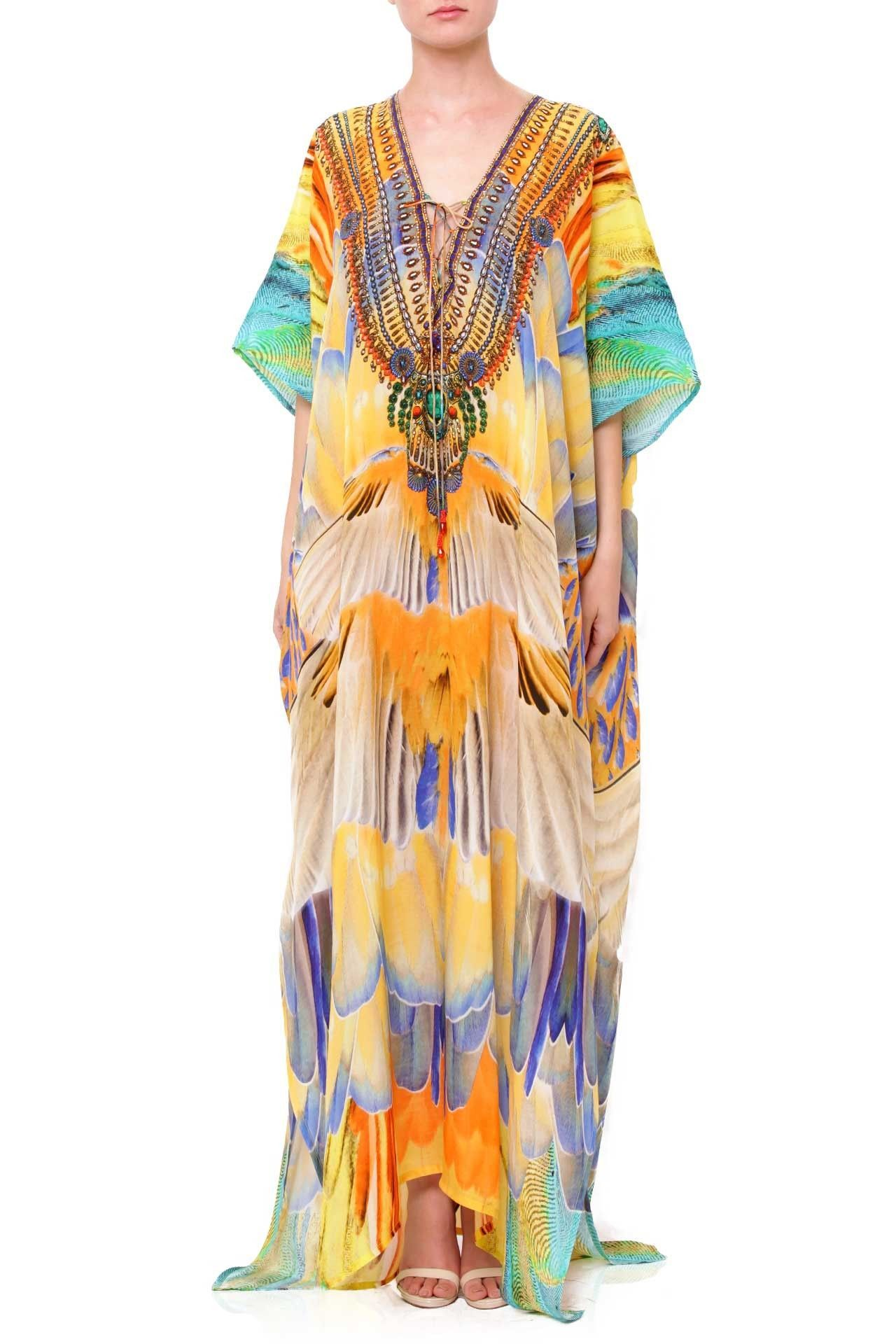 Buy best long kaftans silk kaftan dresses shahida parides