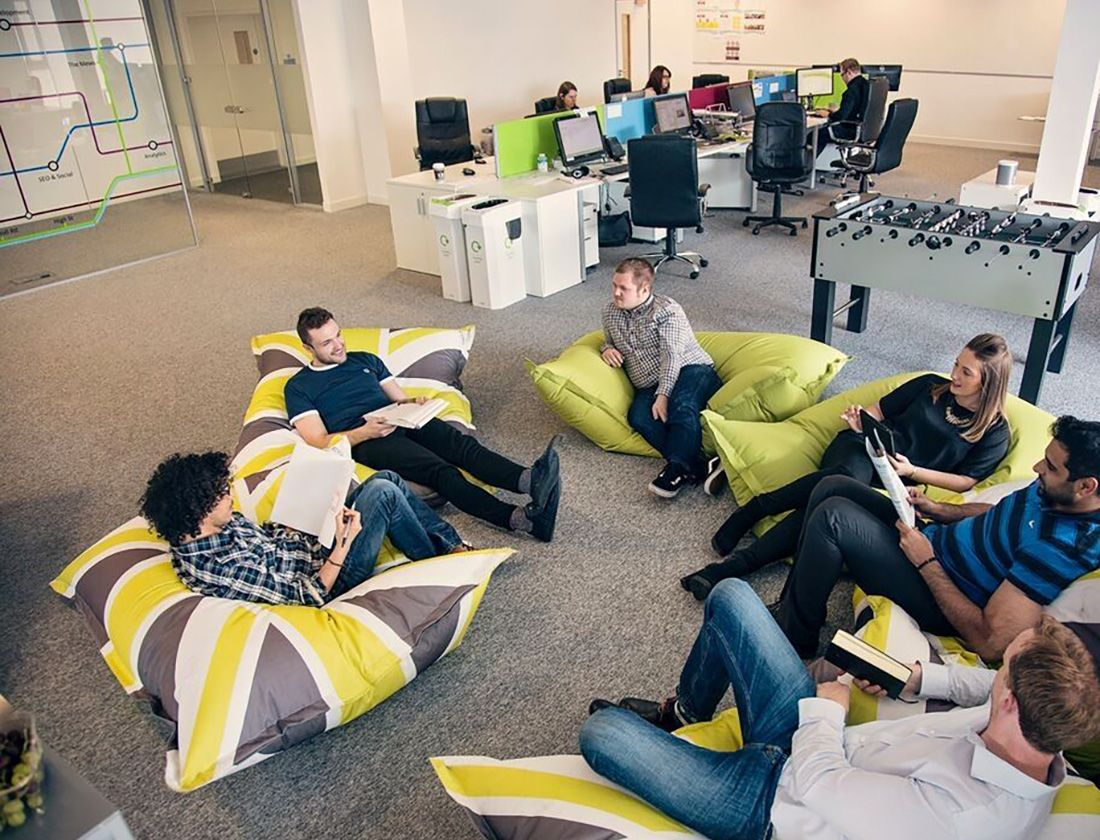 Beanbags In The Office Are They Here To Stay Insight Office Lounge Design Bean Bag Office Office Interiors