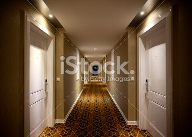 long and dark hotel corridor indoor architectural feature photo libre de droit couloir et. Black Bedroom Furniture Sets. Home Design Ideas