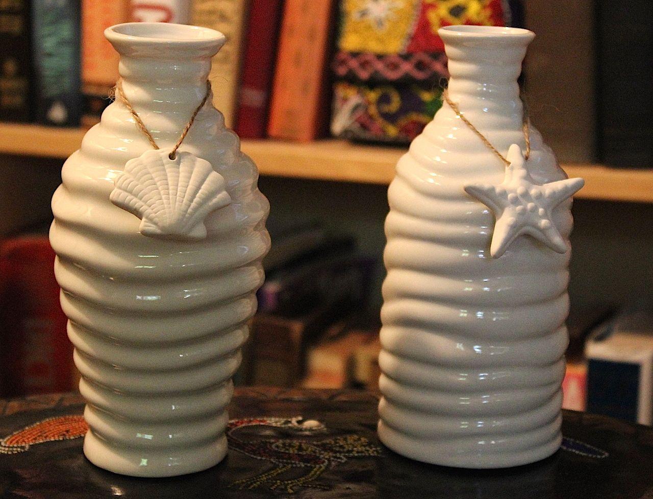 Seashell Vases From Michaels Sea Shell Decor Vase Decor