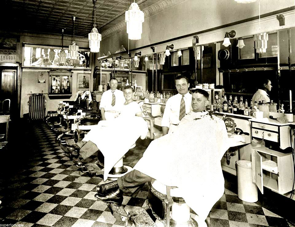 Man Cave Barber Williams Lake : S two barbers with their customers at the barbershop