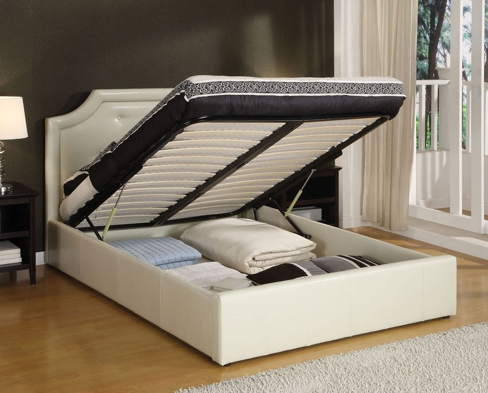 Interesting Queen Size Bed Frame With Storage Underbed