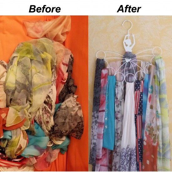 How To Organize Scarves This Ballerina Scarf Hanger Can Hold As