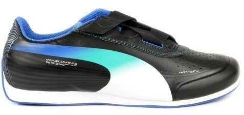 8742abfbf38 Puma Evospeed Mercedes 1.2 Low NM Fashion Sneaker Shoe - Black/White ...