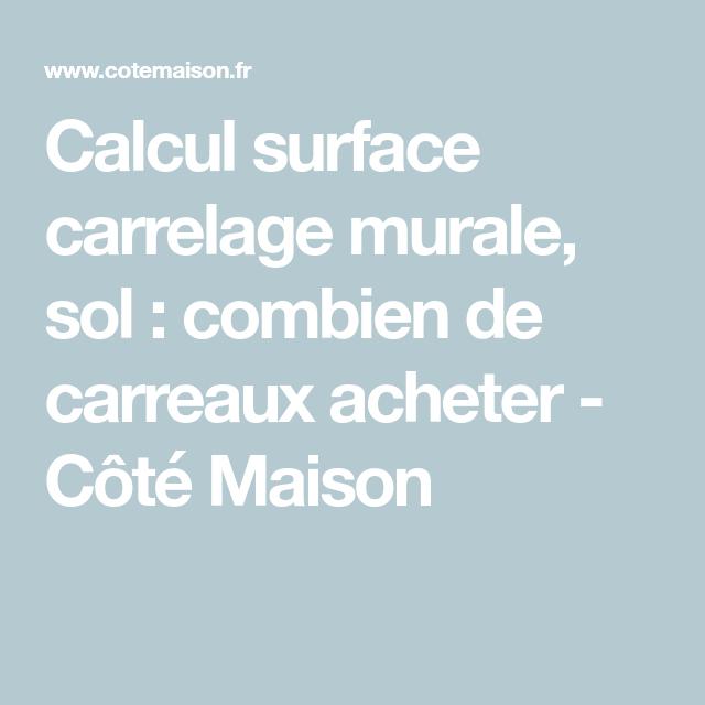 Calcul Surface Carrelage Murale Sol Combien De Carreaux Acheter Calcul Surface Parement Mural Et Carrelage Mural
