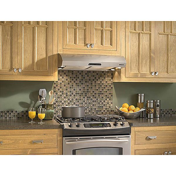Quiet Kitchen Hood Corner Cabinet Broan Evolution 1 Series 30 Inch Stainless Steel Under Range 220 0 8 Sones At Normal Speed 5 High 120 Cfm Low